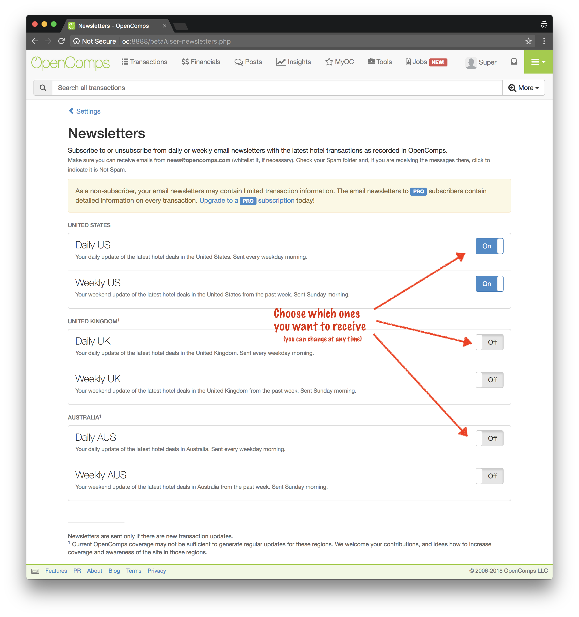 Manage Newsletters