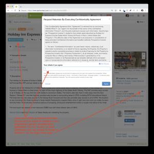 Request Materials confidentiality dialog